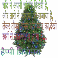Christmas image with sayari wishes quotes