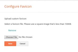 Upload Favicon and save