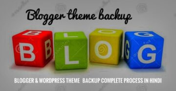 Blogger WordPress Customise Theme ka Backup kaise le -How to backup wordpress theme