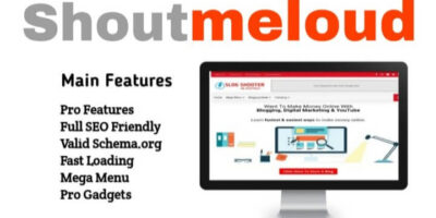 Shoutmeloud Blogger Template Free Download